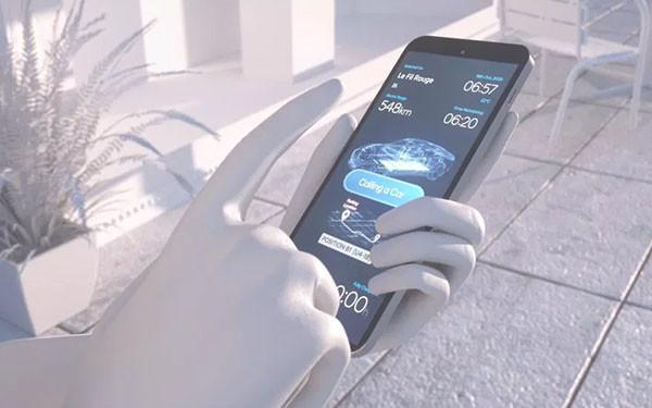 手机控制电动汽车概念图